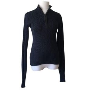 PrAna Fisherman Cable Half-zip Pullover Sweater S